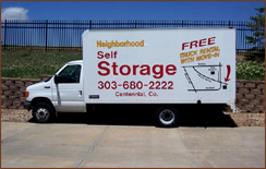 Free Truck Rental - Denver Storage Specials